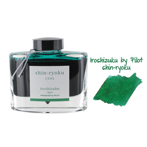 Pilot Iroshizuku Bottled Fountain Pen Ink, 50ml - Shin-Ryoku