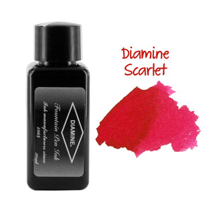 Diamine Fountain Pen Bottled Ink, 30ml - Scarlet