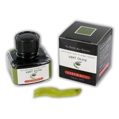 J. Herbin La Perle des Encres Fountain Pen Ink Bottled 30 ml Vert Olive (H130-36