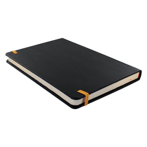 Rhodia Rhodiarama A5 Webnotebook, 5.5 in x 8.25, Lined - Black (118742)