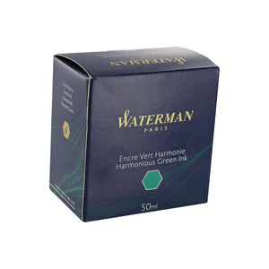 Waterman Harmonious Green Fountain Pen Bottled Ink For Fountain Pens in the original packaging.