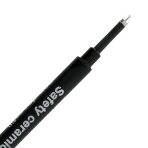 Schmidt 888 Safety Ceramic Plastic Rollerball Pen Refill, 1.0mm, Broad Point, Black Ink, Each (88817)