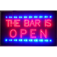 Bar Is Open LED Sign, LED Signs, Neonetics - Olhausen Online