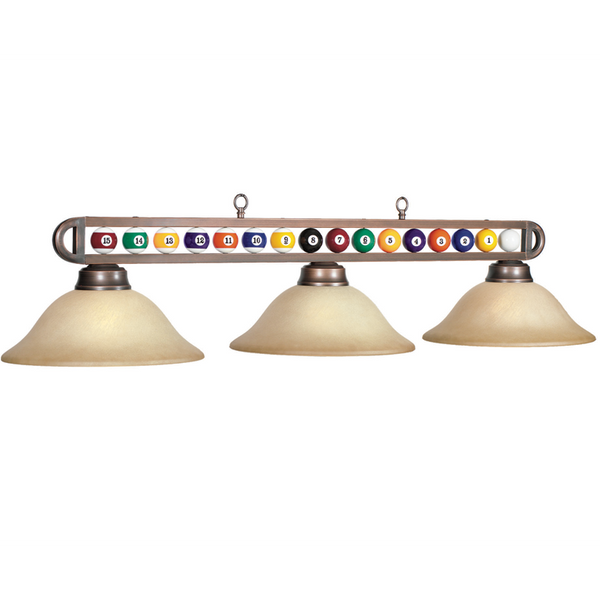 Billiard Ball Glass Light, Billiard Lighting, Ram Gamerooms - Olhausen Online