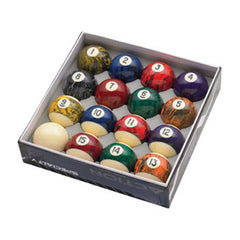 Action Black Marble Ball Set, Pool Balls, CueStix - Olhausen Online