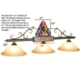 Billiard Ball Triangle Light, Billiard Lighting, Ram Gamerooms - Olhausen Online