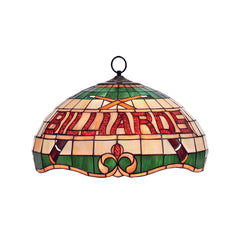 "16"" Billiard Stained Glass Pendant Light, Pendant Lighting, Ram Gamerooms - Olhausen Online"