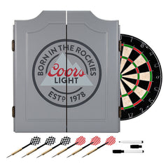 Coors Light Dartboard Set, Dartboard Cabinet, TradeMark - Olhausen Online
