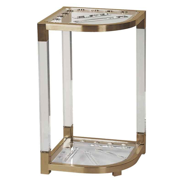 Heavy Duty Lucite Corner Rack, Cue Stand, Cue and Case - Olhausen Online