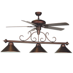 "58"" Fan Light w/ Metal Shades, Billiard Lighting, Ram Gamerooms - Olhausen Online"