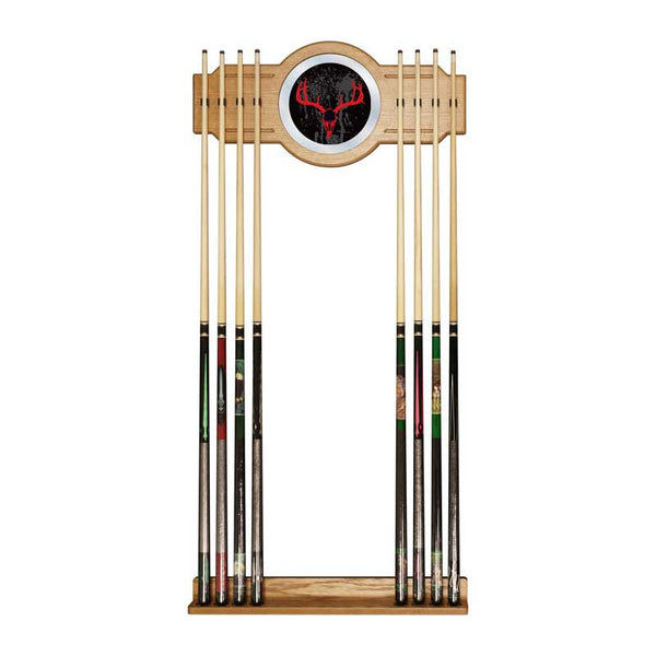 Hunting Skull Billiard Cue Rack with Mirror, Cue Rack, TradeMark - Olhausen Online