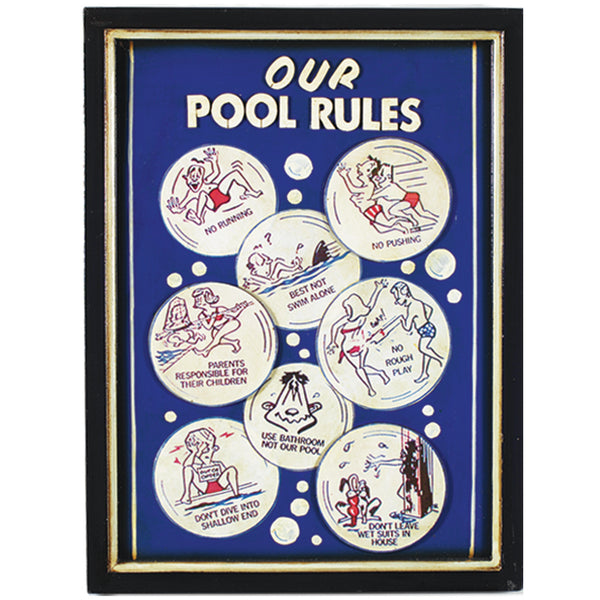 Our Pool Rules, Outdoor Decor, Ram Gamerooms - Olhausen Online