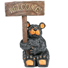 Bear with Sign, Outdoor Decor, Ram Gamerooms - Olhausen Online