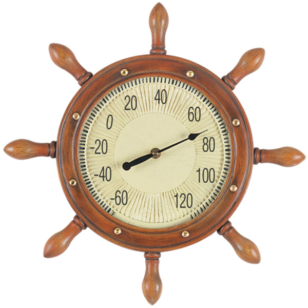 Captains Wheel Thermometer, Clocks & Thermometers, Ram Gamerooms - Olhausen Online