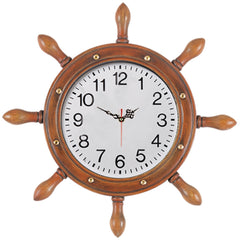 Large Captains Wheel w/ Clock, Clocks & Thermometers, Ram Gamerooms - Olhausen Online