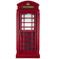 Old English Telephone Booth Bar Cabinet, Bar, Ram Gamerooms - Olhausen Online
