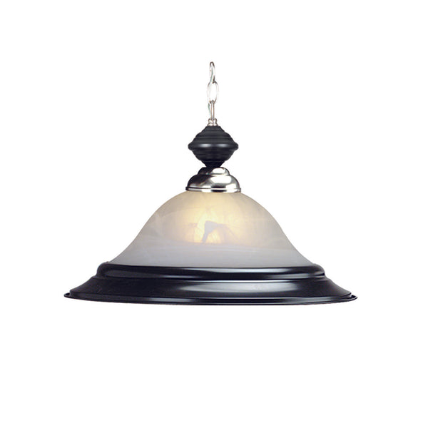 "17"" Matte Black & Stainless Pendant Light, Pendant Lighting, Ram Gamerooms - Olhausen Online"