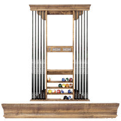 Eclipse 722 Deluxe Crown Q Rack, Cue Rack, Olhausen Billiards - Olhausen Online