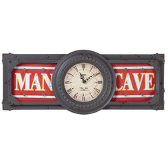 Metal Sign Man Cave Clock