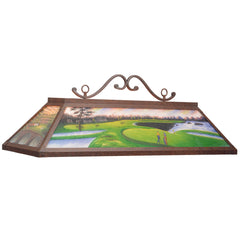 "48"" Hand Painted Golf Billiard Light, Billiard Lighting, Ram Gamerooms - Olhausen Online"