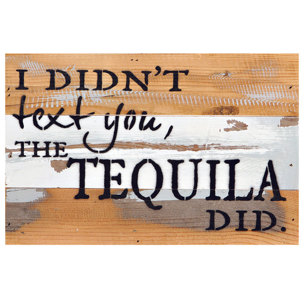 I Didnt Text You, The Tequila Did