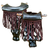 Brown Leather Fringe Pockets, Billiard Accessories, CueStix - Olhausen Online