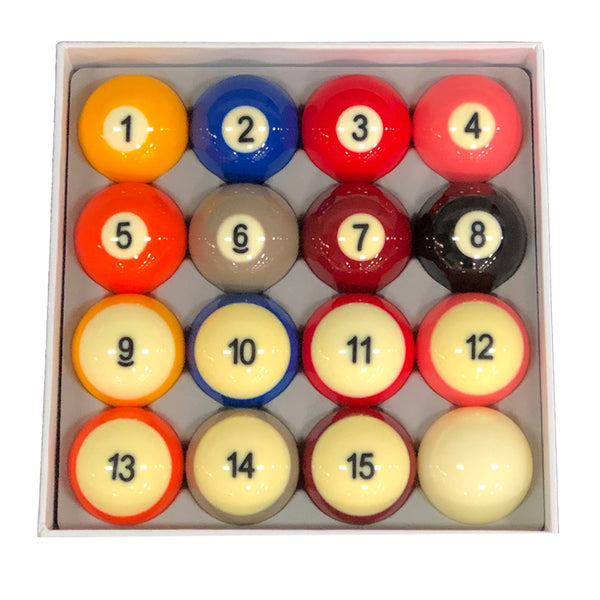 DynaSphere Silver Pool Ball Set, Pool Balls, Championship - Olhausen Online