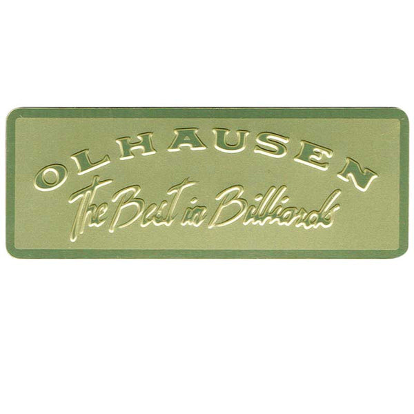 Olhausen Rectangle Nameplates, Pool Table Parts, Olhausen Billiards - Olhausen Online