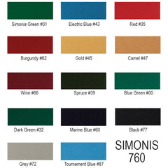 Simonis 760 Original Worsted Blend, Billiard Cloth, Simonis - Olhausen Online