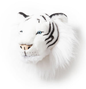 Albert White Tiger - Plush Wall Decor - Angus & Dudley Collections