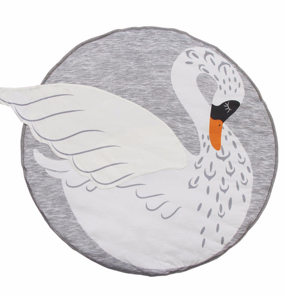 Swan soft padded Mister Fly playmat or rug for baby