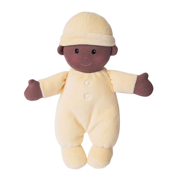 Apple Park First Baby Doll Lemon. Cuddly soft toy.