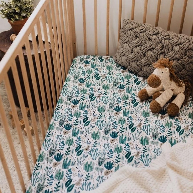 Snuggle Fitted Cot Sheet - Arizona - Angus & Dudley Collections