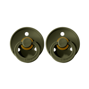 Bibs Colour Dummies - Olive Green - (2 pack)