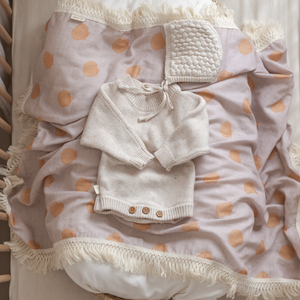 Ziggy Lou Fringed Bay Baby Newborn Swaddle Wrap