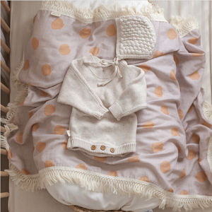 Ziggy Lou Fringe Swaddle - Bay