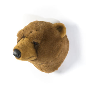 Oliver Brown Bear - Plush Wall Decor