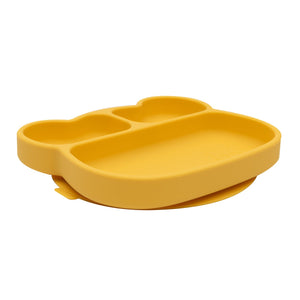 Bear Stickie Plate- Yellow
