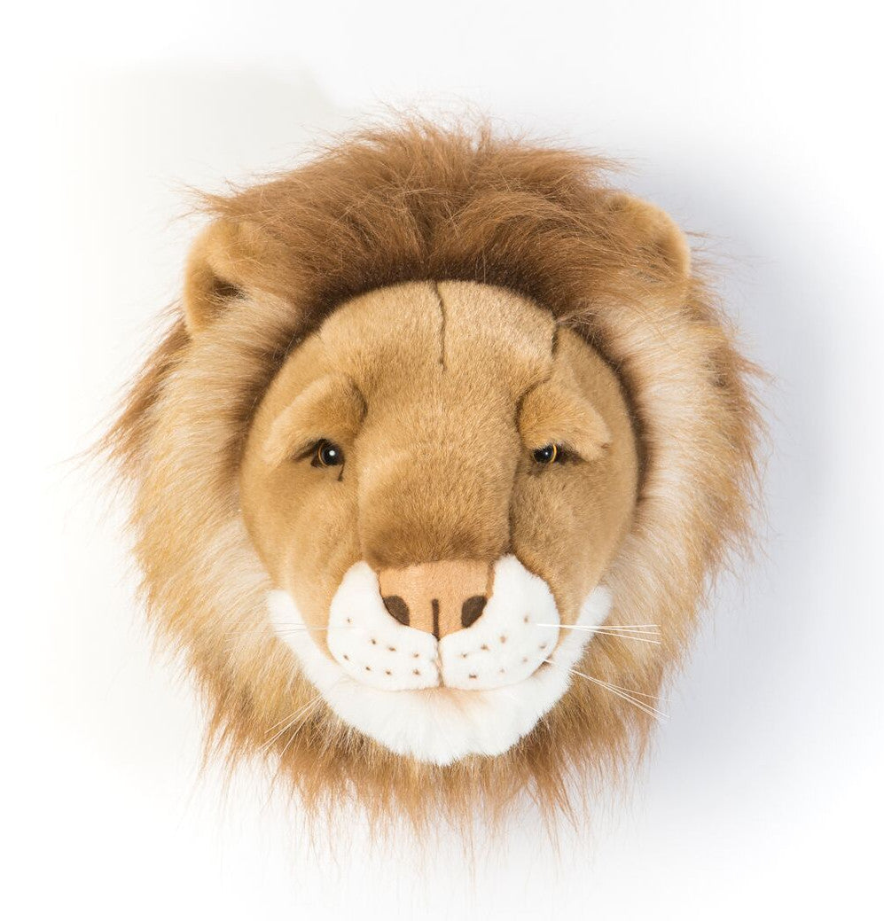 Wild and Soft Cesar the lion head plush wall decor.
