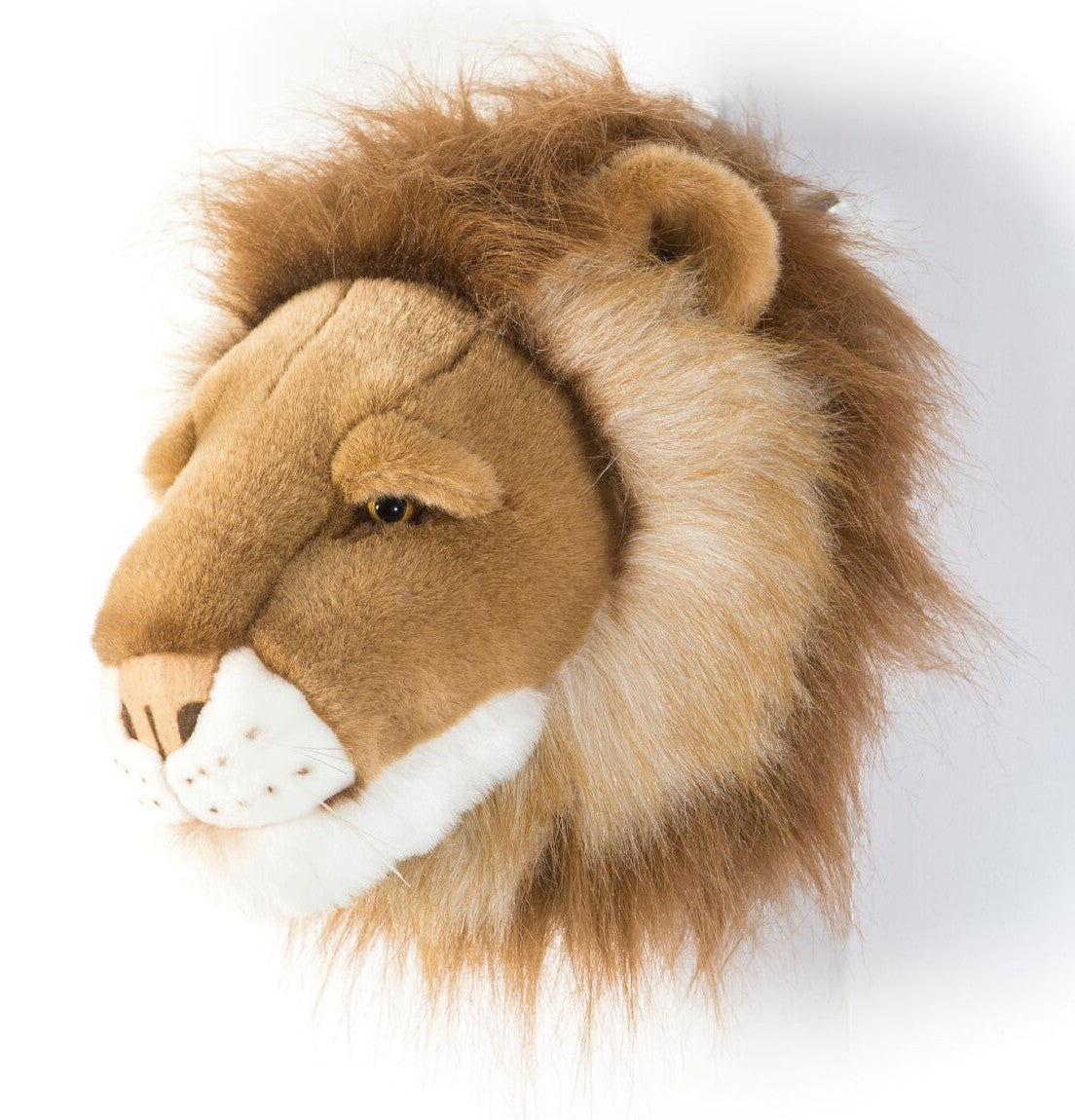 Wild and Soft Cesar the lion head plush wall decor. Trophy head.
