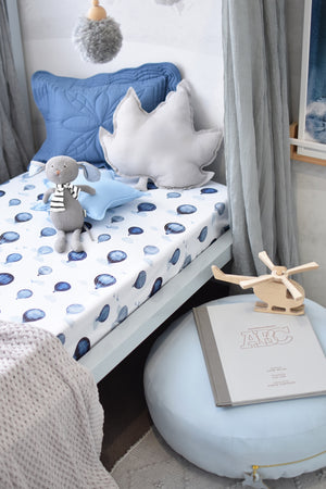 Snuggle Fitted Cot Sheet - Cloud Chaser - Angus & Dudley Collections