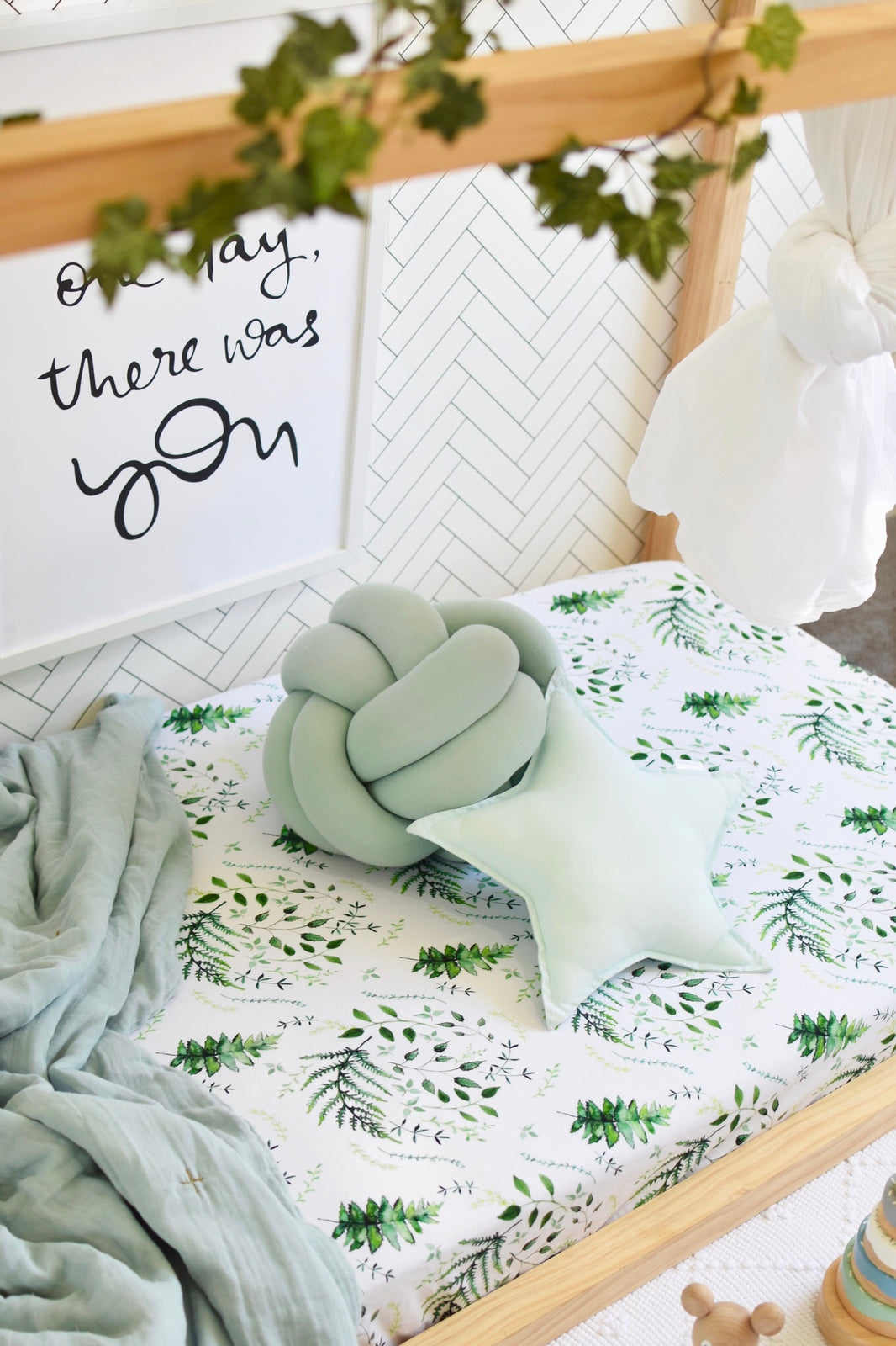 Snuggle Fitted Cot Sheet - Enchanted - Angus & Dudley Collections