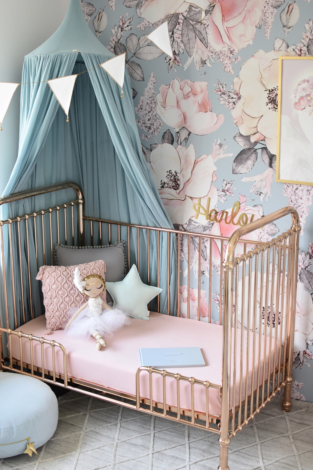 Snuggle Fitted Cot Sheet - Lullaby Pink - Angus & Dudley Collections