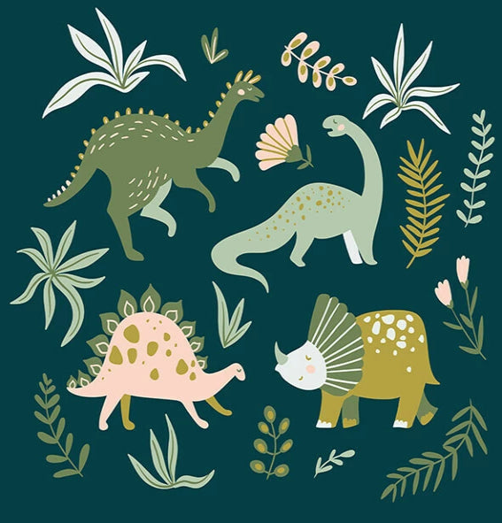 Dino Forest Canvas Wall Art - Angus & Dudley Collections