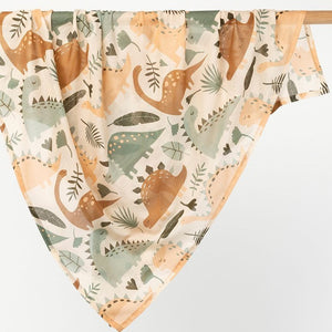 Baby cotton wrap/swaddle - Dinosaur Theme - Angus & Dudley Collections