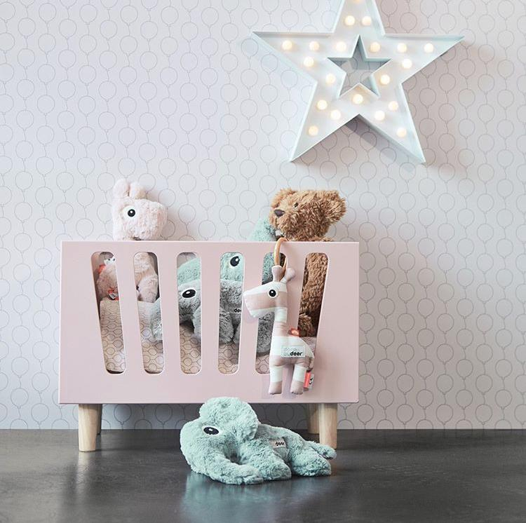 Done By Deer Dolls Cot. Dolls Bed Powder