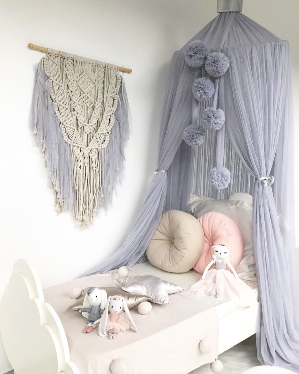 Spinkie Baby Dreamy Canopy - Light Grey - Angus & Dudley Collections