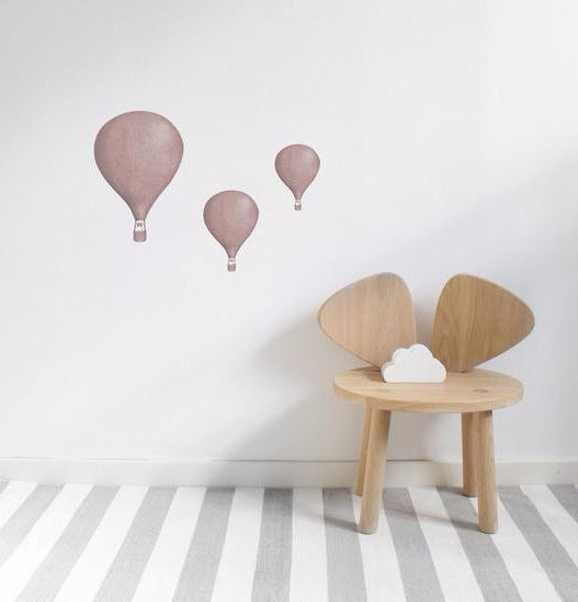 Wall Stickers for kids. Stickstay Dusty Rose Balloons design.