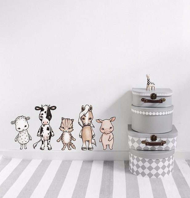 Wall Stickers for kids. Stickstay Farmhouse Friends design.