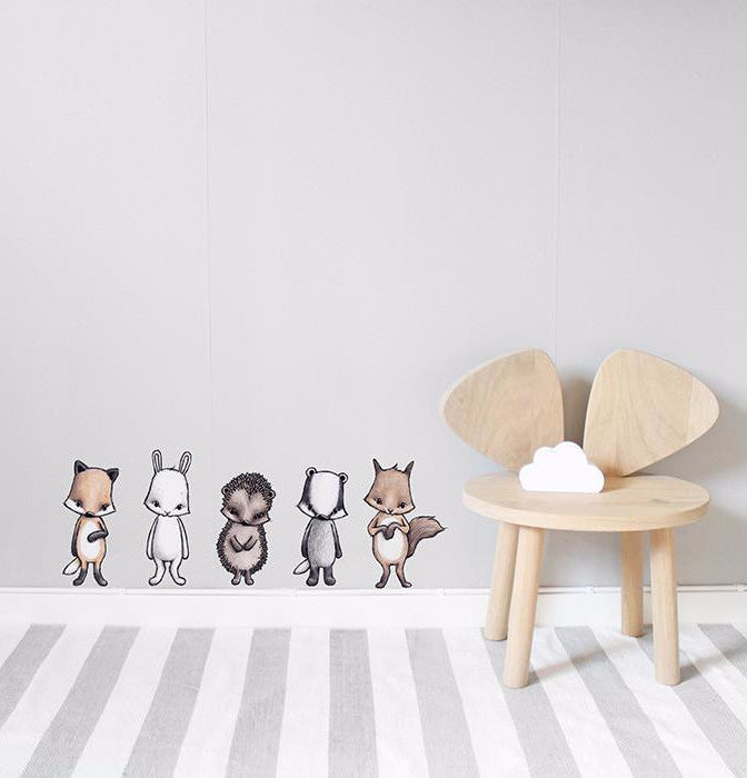 Wall Stickers for kids. Stickstay Forest Friends design.
